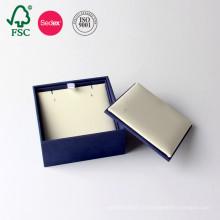 Boîte de bijoux en papier en cuir d'emballage de carton d'OEM d'usine