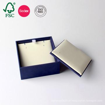 Fábrica de embalagens de papelão OEM Caixa de jóias de papel de couro