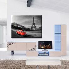 B & W Eiffelturm Leinwanddrucke