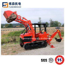 Ce Approved 35HP Mini Track Tractor with 4 in 1 Front Loader for European Market