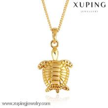 31059-Xuping exquisito colgante de joyería de oro tortuga encanto