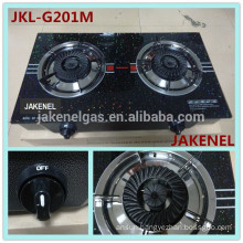 tempered glass top 2 burner gas stove, gas cooker