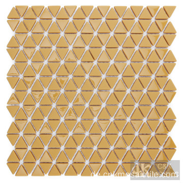 Ginger Yellow Glass Mosaic Küche Backsplash Fliese