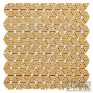 Jubin Backsplash Kitchen Mosaik Kaca Kuning Halia