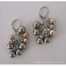 Grape Shaped Shell Pearl Earring (EP99)