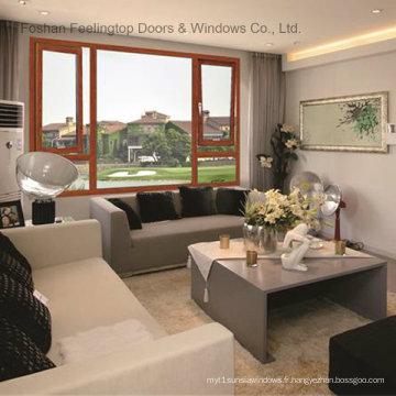 Fenêtre en aluminium insonorisée avec double vitrage et insonorisation (FT-W70)
