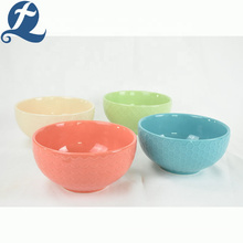 High quality round cheap creative restaurant ceramic noodle bowl