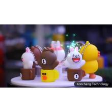 Nettes kundenspezifisches Teddybär-USB-Flash-Laufwerk