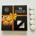 factory 4hours paraffin wax white color unscented tea light candles 100pcs
