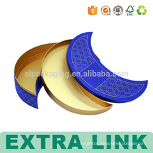 moon shape chocolate candy rigid packaging goldcard paper box