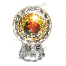 Dekorative orthodoxe Kristall-Ikone - religiöse Kristall-Statue