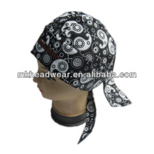 fashion unisex cotton pirate hat with full printing
