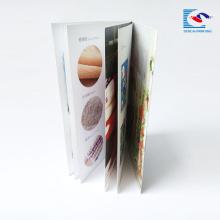 folleto de impresión en offset de alta costura de la puntada de encuadernación de la silla para el restaurante