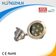 Aluminio + acero inoxidable 201 7w rgb llevó la lámpara del proyector con la alta prueba