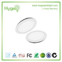 Painel de luz LED de alta qualidade 6W-24W, luz de painel quadrada Round LED