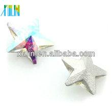 pingentes de cristal de prata fantasia foiling vidro de cristal 4745