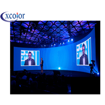 Gebogen Indoor LED-displaymuur