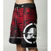 Men microfiber fashion full print mma shorts