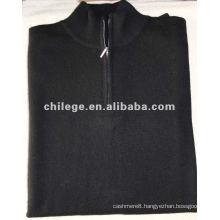 100%cashmere black men's turtleneck sweaters