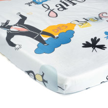 """Crib Sheets / Baby Bed Sheet / Crib Sheets Girls for Baby - Infant - Toddler Deep Fitted Soft Jersey Knit by Abstract 28"""" X 52"""