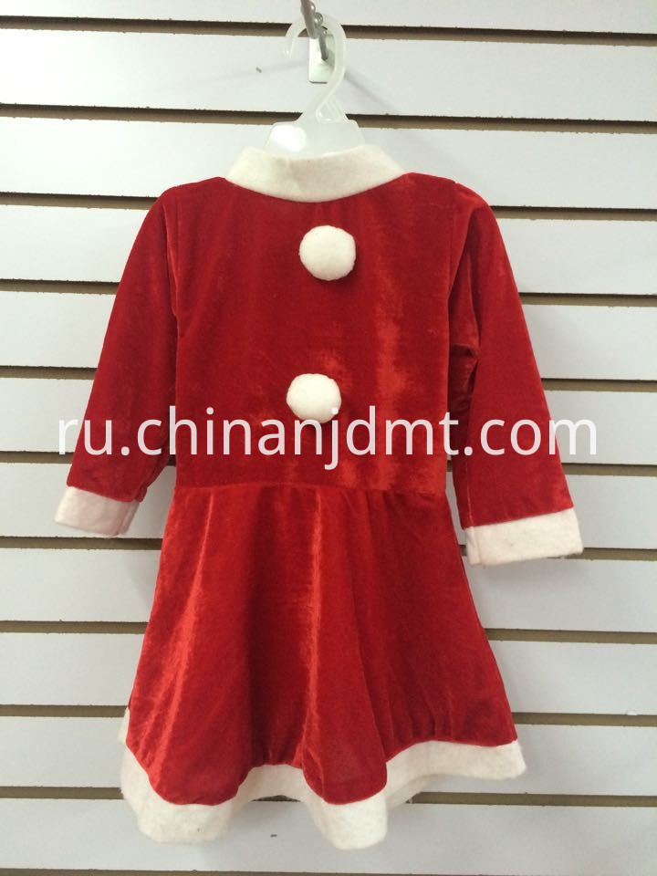 Red santa claus skirt