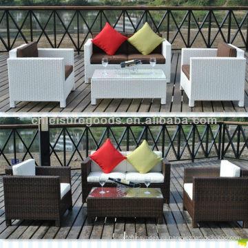 Алюминиевый ротанг патио комплект мебели