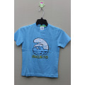 BOY'S 100% COTTON T-SHIRT WITH PRINT FOR SMURFS
