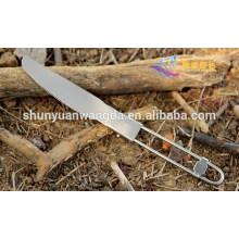Durável moda titânio dobrável faca de mesa