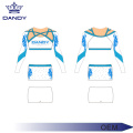 Splendide strass Lycra blanc Cheer Uniform