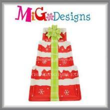 Hot Selling Christmas Tree Design Plaque et plat en céramique