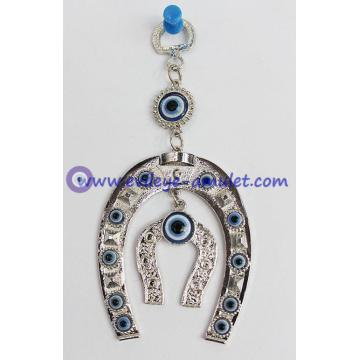 Evil Eye with Horse Shoe Protection amulet wall hanging