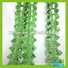 Small glass crystal beads in bulk peridot color 4*6mm
