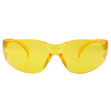 Yellow One Piece Lens Safety Sunglass