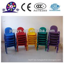 JQP0414 niños de jardín de infantes de plástico apilable silla plegable