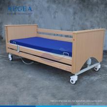 AG-MC002 marco de madera de ancianos de atención médica plegable plegable de uso eléctrico camas de reposo