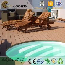 Eco-friendly moda piscina decoração exterior wpc decking / piso