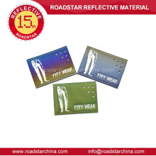china supplier reflective leather embossed reflective label