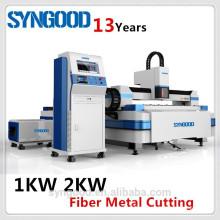 500W 1KW 2KW cortador del laser Fibra Syngood 1.5X3.0m 0.5-16m m CS y acero inoxidable