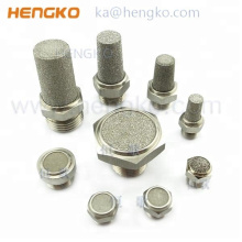 sintered powder metal stainless steel 316 L bronze exhaust silencer for industry or pneumatic system