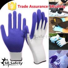 SRSAFETY 13 калибра вязаный лайнер с покрытием из латекса на ладони рабочие перчатки рукавицы машины для производства