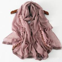 High quality fashin new design long wide shawl size 205*75 cm 50% cotton printed muslim turkish scarf hijab