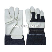 Helle Farbe volle Palm Möbel Leder Arbeit Handschuh-4027