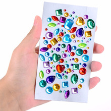 MOQ 500pcs personalizado corpo Face Rhinestone Crystal Sticker