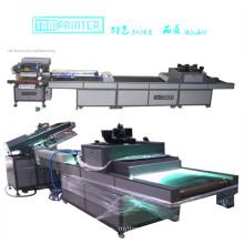 Máquina de serigrafía y máquina de curado con brazo robótico