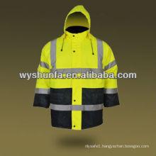 warning jacket waterproof treated Waterproof police Reflective Safety Jacket