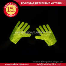 Qualitativ hochwertige reflektierende beidseitig pvc prismatischen reflektierende Handschuh für Polizei