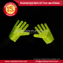 High quality double reflective side pvc prismatic reflective glove for police