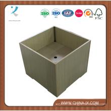 Hölzerne quadratische Wühlkorb-Anzeige