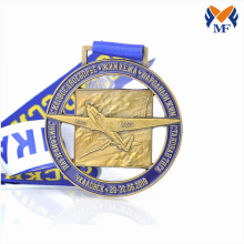 Custom award enamel round metal airplane medals