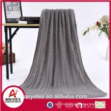 Lã de aquecimento sólido poliéster acrílico cobertor a granel comprar a partir de china